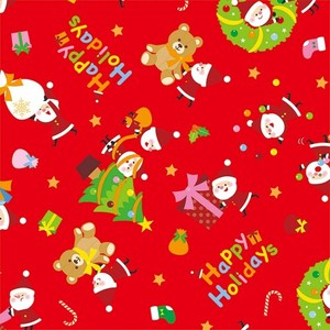 Christmas Wrapper Little Santa Whole Sheet Half Sheet