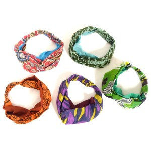 S/S Fashion India Print Plain Hair Band