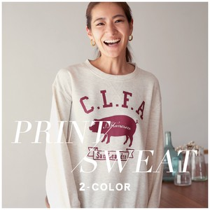 Crew Neck Sweatshirt Raised Back Crew Neck Sweatshirt Ladies