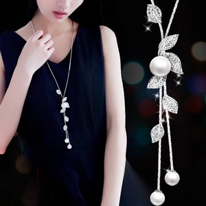 Pearl Chain Design Long Necklace