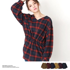 2018 A/W Checkered Blouse Top
