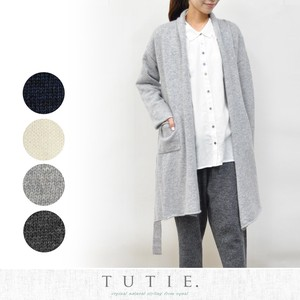 Angola Wool Knitted Robe Cardigan