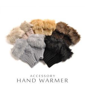 Fur Knitted Hand Warmer Glove Short