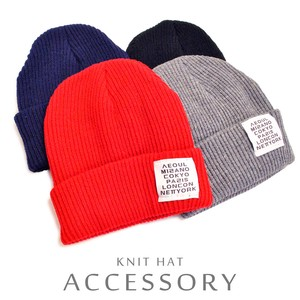 Cenesthesia Label Color Knitted Hat