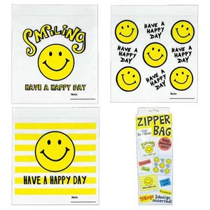 Zipper Bag SMILE Vinyl Storage Bag Subdivision Bag Kitchen Accessory