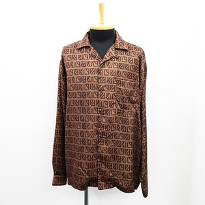 S/S Long Sleeve Repeating Pattern Open Color Shirt Geometry
