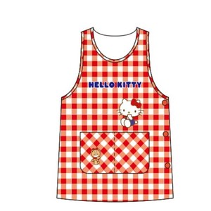 Hello Kitty Apron Gingham Button