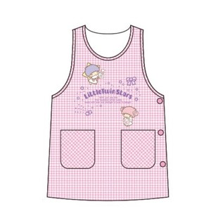 Apron Dobby Checkered Button Pink