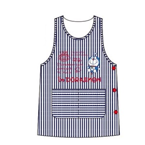 Doraemon Apron Stripe Button