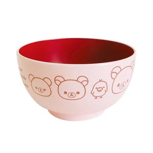 Rilakkuma Children Soup Bowl Pink Happy Life