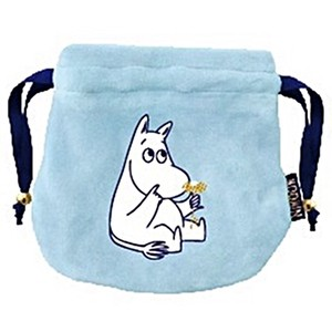 The Moomins Round Pouch The Moomins Flower Marshmallow