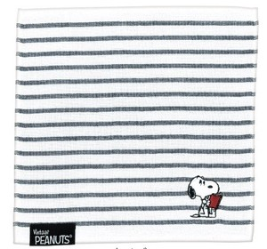 Snoopy Gauze Pile Mini Towel Navy