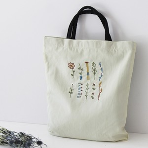 Embroidery Series Flower Nylon Tote Bag
