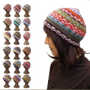 Hand Knitting Wool Fleece Lining Pattern Knitted Cap