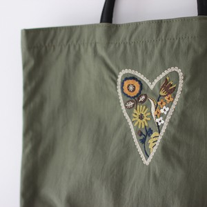 Embroidery Series Heart Nylon Tote Bag