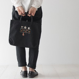 Embroidery Series Plates & Utensil Nylon Tote Bag