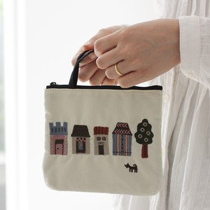 Embroidery Series Handle Attached Pouch
