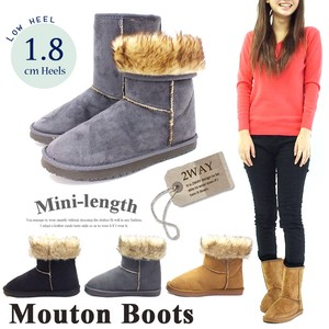 Fluffy Fur Middle Mouton Boots
