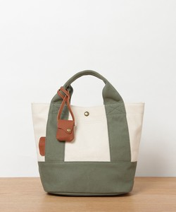 New Color Combi Canvas Leather Tote