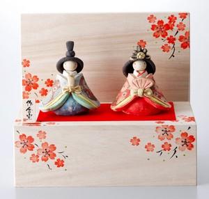 ★ひな祭り★「置物とインテリア」雛人形 【嬉しき雛 木箱飾り】