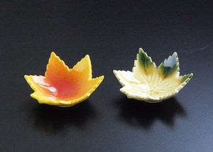 Autumn Leaves type Spice Tray Mini Dish Made in Japan Mino Ware