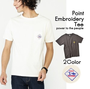 Plate One Point Embroidery T-shirt