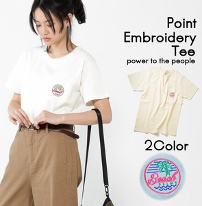 Neon One Point Embroidery T-shirt