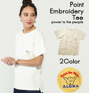 One Point Embroidery T-shirt