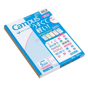 KOKUYO Campus Notebook Use For 5mm grid 5 Colors Pack