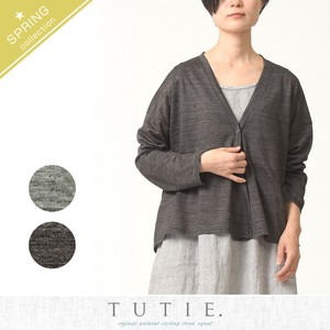 Linen Jersey Stretch Cardigan
