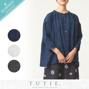 Linen Gather Blouse