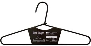 Rope Cover Wire Clothes Hanger Black