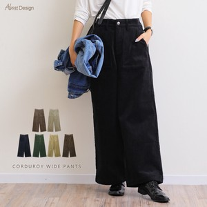 CORDUROY wide pants Ladies Waist