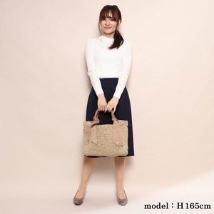 2018 A/W Mouth Mix Color Hand Knitting Tote Bag