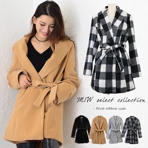 Appreciation Shawl Color Waist Ribbon Coat Coat Shawl Color Outerwear