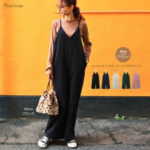V-neck wide pants Overall