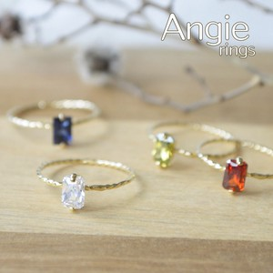 4 Colors Rectangle Crystal Color Ring