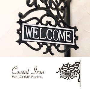 Covent Iron コベントアイアン[WELCOME ブラケット]<アイアン雑貨>