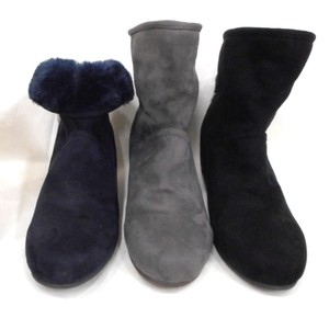A/W Behind Decoration Beautiful Heel Fur Boots