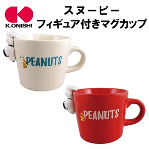Character Merchandize Snoopy Figure Attached Mug