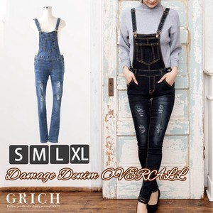 Bottom Pants Damage Denim Overall