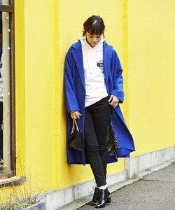 WOOL MIX×SIDE ZIP・BIG LONG COAT