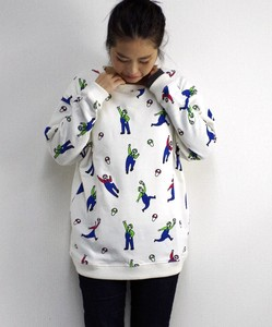 Repeating Pattern Sweatshirt Mushroom Uncle