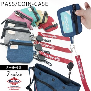 Commuter Pass Holder Card Attached Coin Case Coin Purse Card Holder HOLIDAY