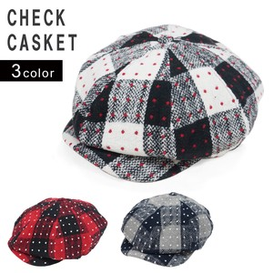 Casquette Hats & Cap Men's Ladies Flat cap Attached Checkered Wool KEYS