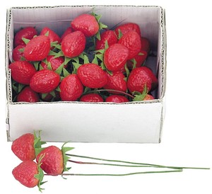 Strawberry 6 Pcs Artificial Flower
