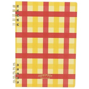 Sweets Mode Ring Notebook Apple Checkered