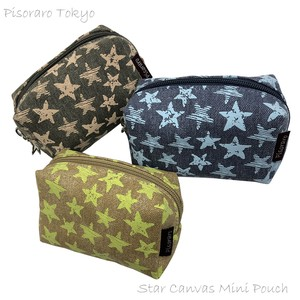 Star Canvas Mini Pouch Cosme Pouch Accessory Case Pouch