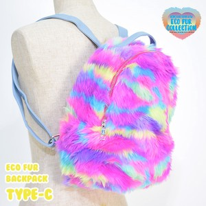 Eco Fur Bag Fake Fur Backpack Colorful Flashy Vivid