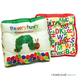 Hungry Bug, Flower & Plant Book Character Sheet Cushion
